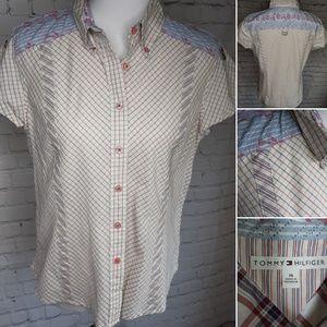 Tommy Hilfiger plus size button down shirt size 14